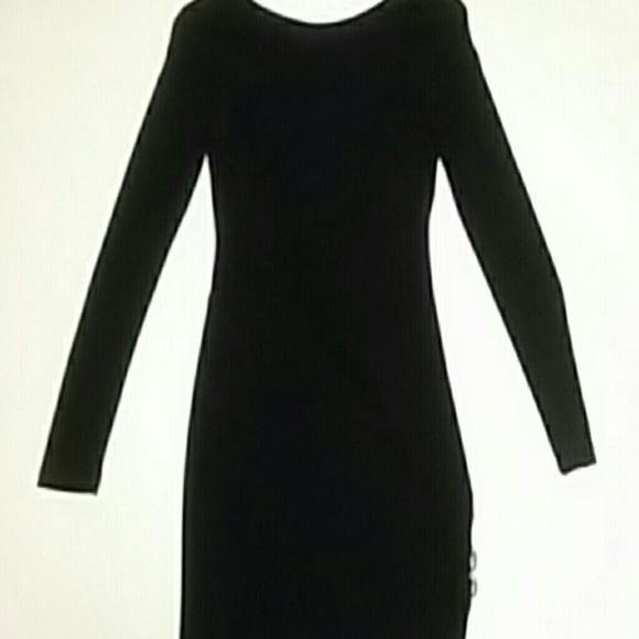 Bebe Dresses Little Black Dress With Back Out Poshmark